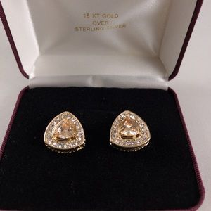 Gorgeous Citrine & Diamond CZ Cuff Links